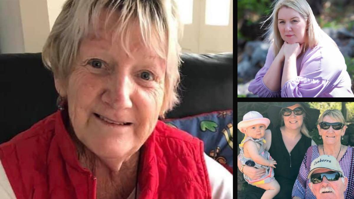 Dawn Trivett' (main photo), her daughter Hayley Olivares (right, phot Karleen Minney) and (bottom right) : Dawn with her husband Rodney, Hayley and granddaughter Saraya. Photo: Supplied