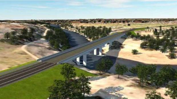 An artist's impression of the Minore Road to Sandy Beach Road/Bligh Street. Image: Dubbo South New Bridge report.