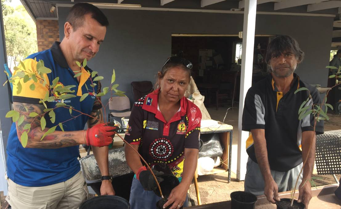 FEARING THE FUTURE: Robert Riley, Kylie Powell and Morris Edwards fear the Indigenous Concepts and Networking (ICaN) nursery site will be sold off.
