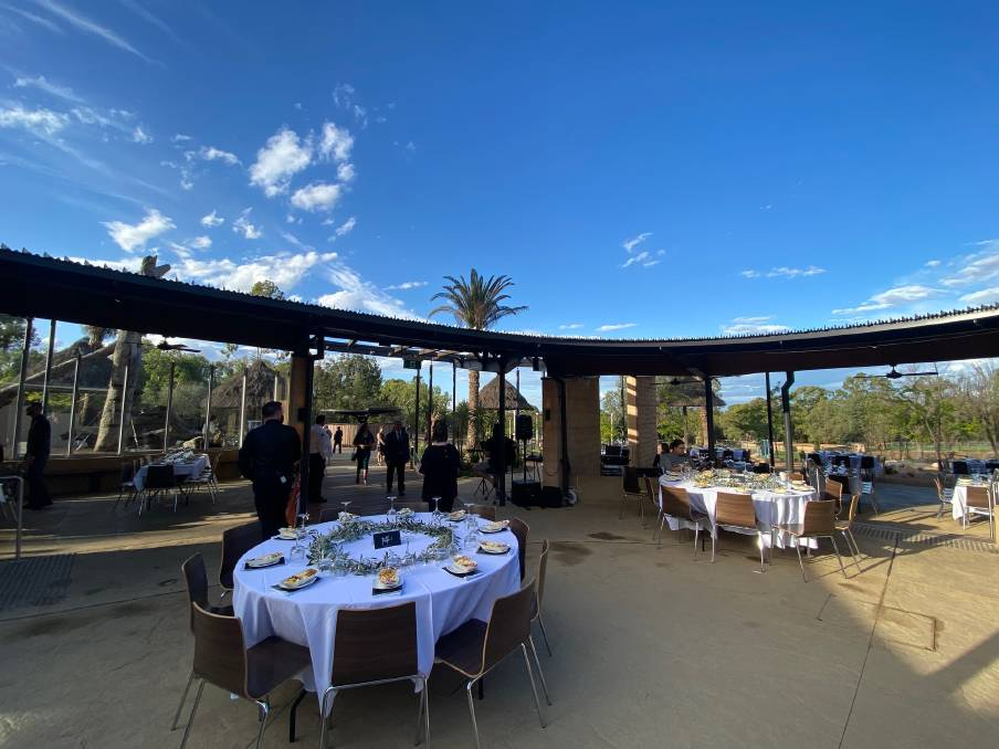 The Waterhole Cafe ready for the function. Photo: BELINDA SOOLE