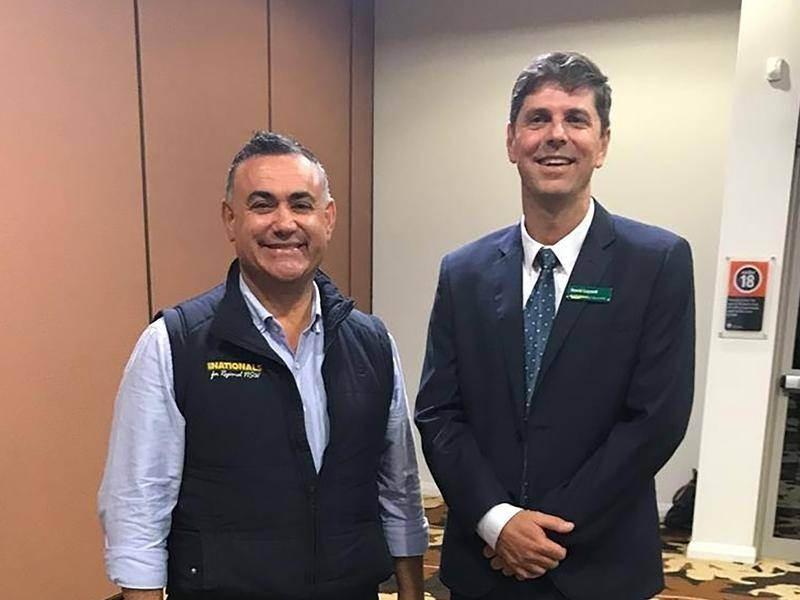 Leader John Barilaro has already started campaigning with Nationals candidate David Layzell.