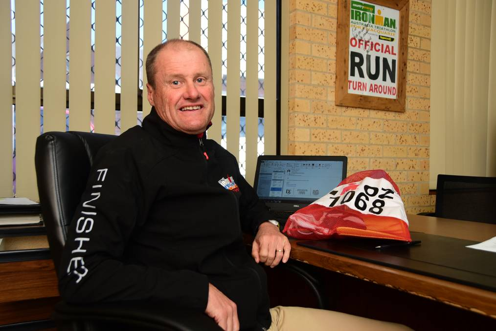 Dubbo solicitor Robert Duffy is taking up an invitation from the Ironman Legacy program to compete in the 39th World Ironman Championship at Hawaii on October 8. 				       Photo: BELINDA SOOLE